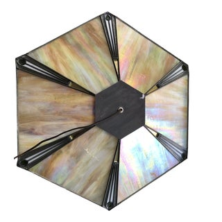 Arts and Crafts Stained Glass Lamp Shade For Sale
