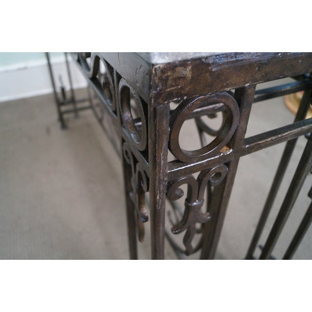 Iron Gothic Style Slate Top Console Table - Image 5 of 10