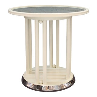 Josef Hoffmann for Wittmann Viennese Secessionist 'Fledermaus' Table in White For Sale