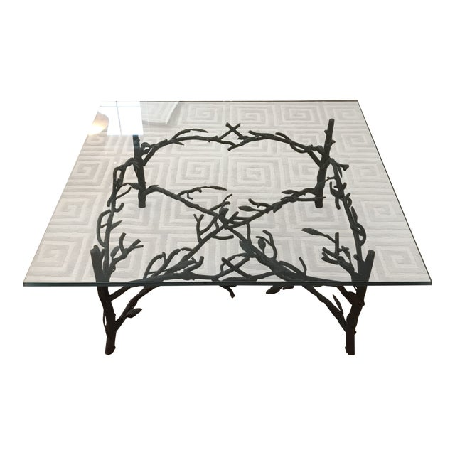 Branch and Leaf Base Cocktail Table - Image 1 of 8