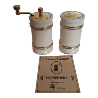 Olde Thompson Mid Century Pepper Mill Set For Sale