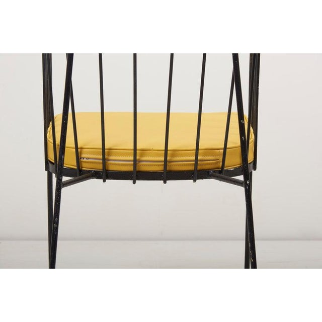 Black Set of Four Iron Rod Outdoor Chairs by George Nelson for Arbuck, 1950s For Sale - Image 8 of 13
