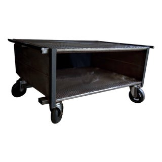 Industrial Multi-Functional Cart Cocktail Table