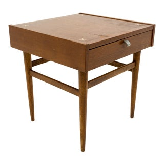 Mid Century Modern Merton Gershun for American of Martinsville Walnut Nightstand For Sale
