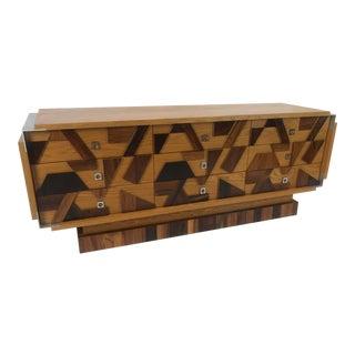 Brutalist Style Credenza Dresser For Sale