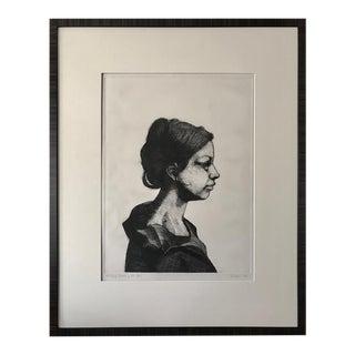 Original Etching Portrait of Ella by John Nava Artist Proof For Sale