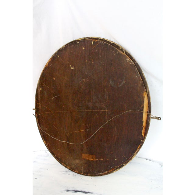 Art Deco Early 20th Century Antique Gold Beveled Mirror For Sale - Image 3 of 5