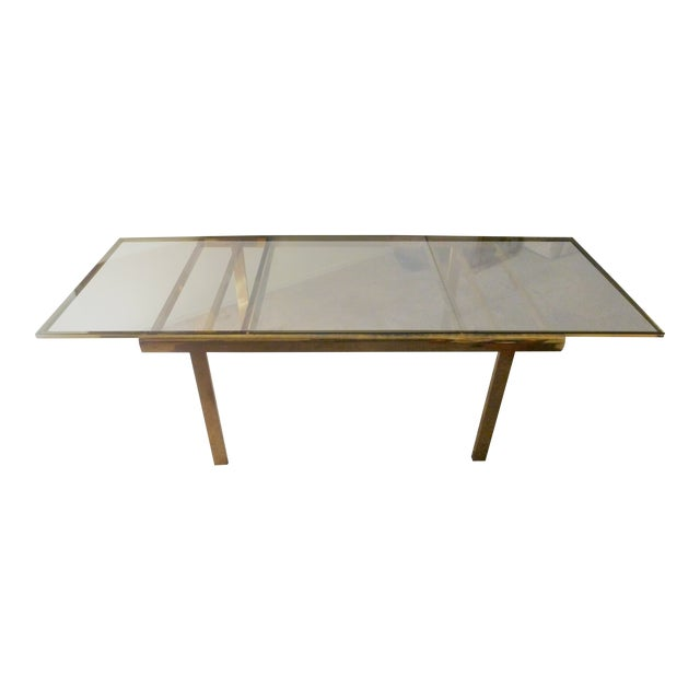 Vintage Brass Dining Room Table - Image 1 of 3