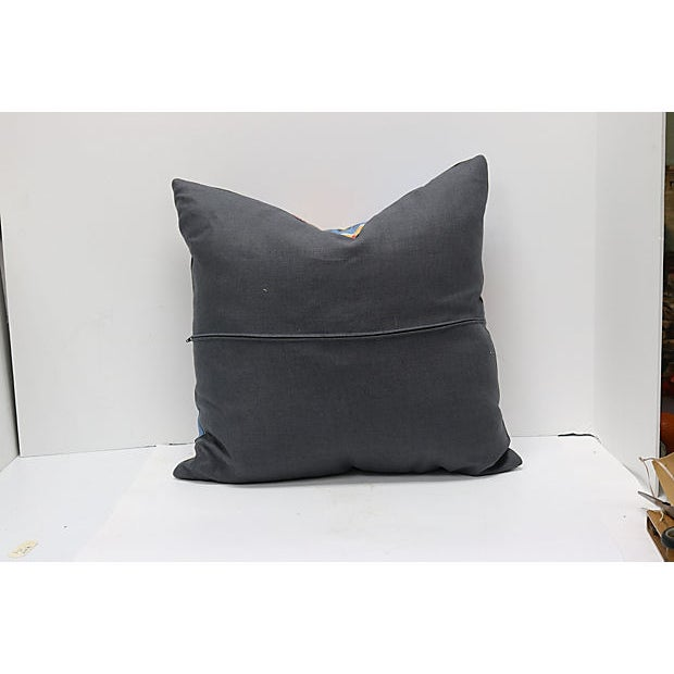 Custom-tailored pillows in a never used 1920s hand blocked silk fabric. Handcrafted in England, pillows have a new...
