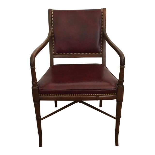 Cabot Wrenn Custom Burgundy Leather Chair - Image 1 of 10