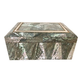 Crackled Mother of Pearl & Abalone Box For Sale