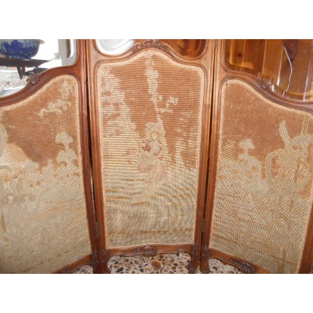 Fabric Petite French Dressing Screen For Sale - Image 7 of 10