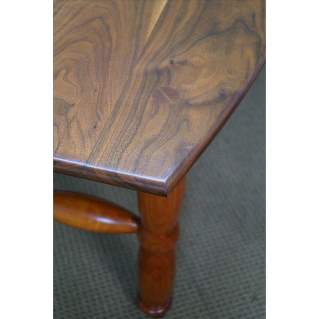 Studio Made Solid Walnut & Mix Wood Coffee Table For Sale - Image 5 of 10