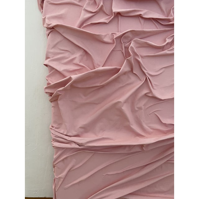 Contemporary Minimalist Light Pink Abstract Textural Painting by Jordan Samuels For Sale - Image 4 of 11