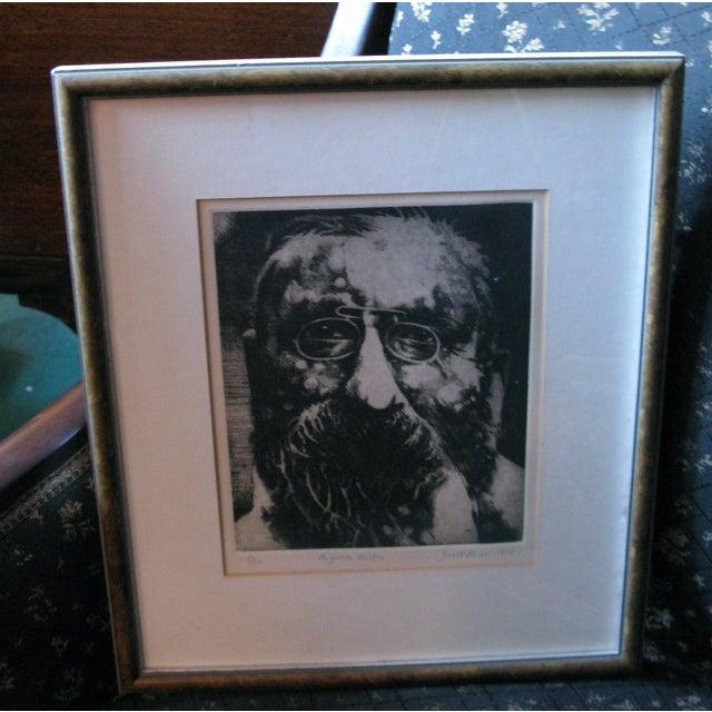1976 Original Scott Prior Etching of Rodin - Image 2 of 9