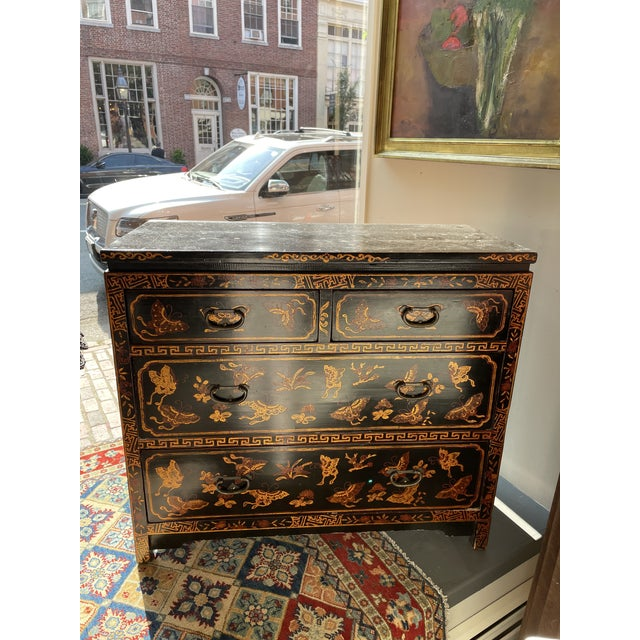 Black 1950s Asian Style Chest of Drawers For Sale - Image 8 of 8