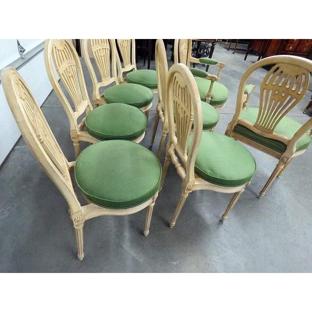 Wood Vintage Mid Century Maison Jansen Style Dining Chairs- Set of 8 For Sale - Image 7 of 8