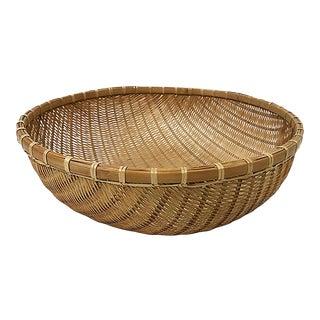 Vintage Large Winnowing Basket For Sale