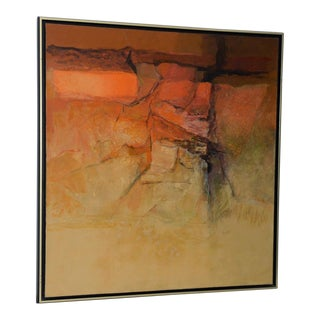 "Alexander Nepote ""Arizona Radiant Cliff"" Modernist Landscape C.1970 For Sale"