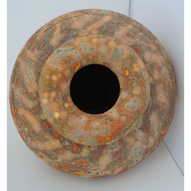 Terra Cotta Vintage Peter Andersson Australia Glazed Earthenware Artisan Pot or Vase With Papers For Sale - Image 8 of 11