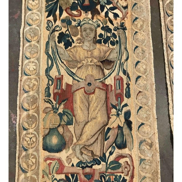 Pair of 18th Century Flemish Portiere Tapestries With Mythological Figures For Sale In Dallas - Image 6 of 8