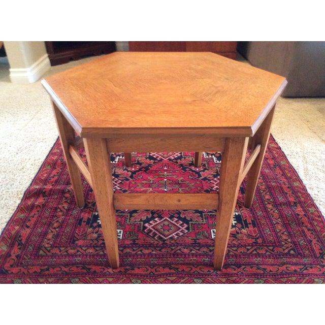 Heritage Teak Hexagon Side Table - Image 3 of 6