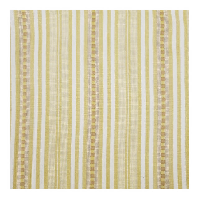 Holland & Sherry Santorini Stripe Cotton Designer Fabric by the Yard For Sale