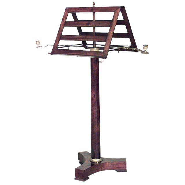 French Empire Double Music Stand For Sale