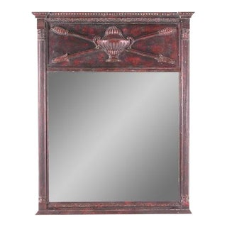 Urn, Arrows and Column Motif Wooden Mirror For Sale