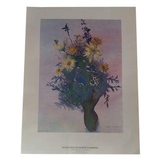 Art Print - Daisies, Stock, Delphinium & Larkspur