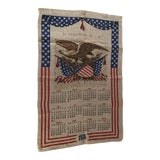 Image of 1976 Bicentennial Cloth Wall Calendar For Sale