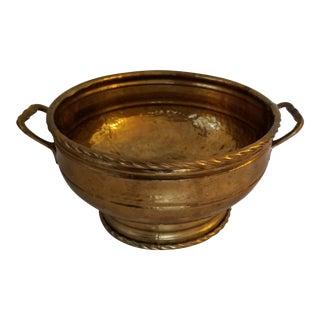 Mid-Century Modern Hammered Brass Bowl/Planter