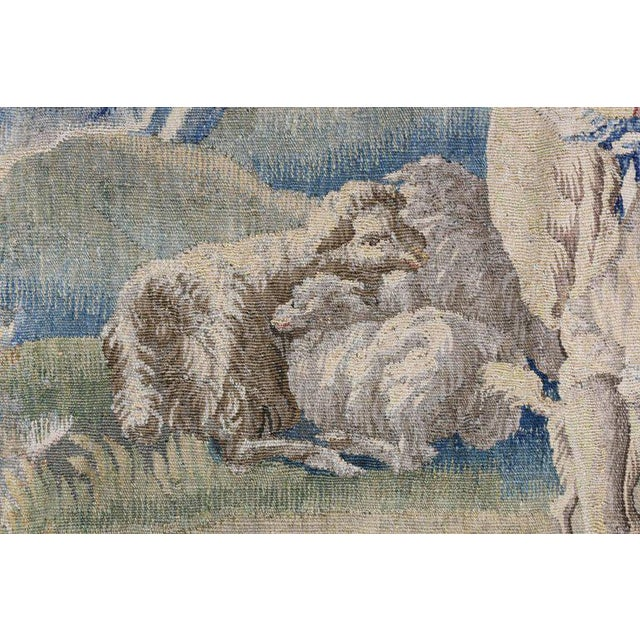 Aubusson Landscape Tapestry For Sale In Boston - Image 6 of 9