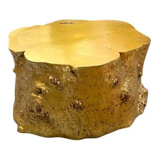 Vintage Faux Bois Gilt Coffee Table For Sale