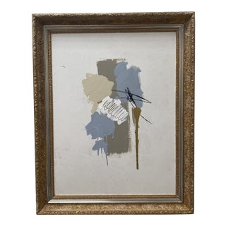 Late 20th Century Abstract Mixed-Media Painting, Framed For Sale