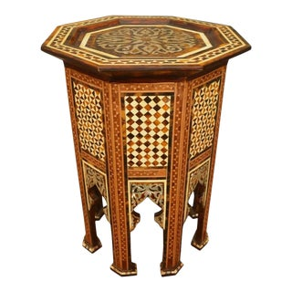 Moroccan Moorish Side Table For Sale