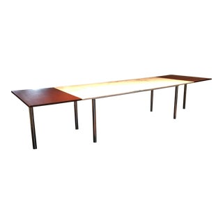 Elaine Lustig Cohen Marble Extension Dining Table For Sale