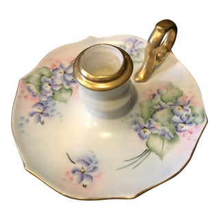 Shabby Chic Hand Painted Candlestick Holder For Sale