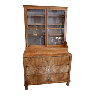 Late 1800s Biedermeier Cabinet From Switzerland, Completely Restored For Sale