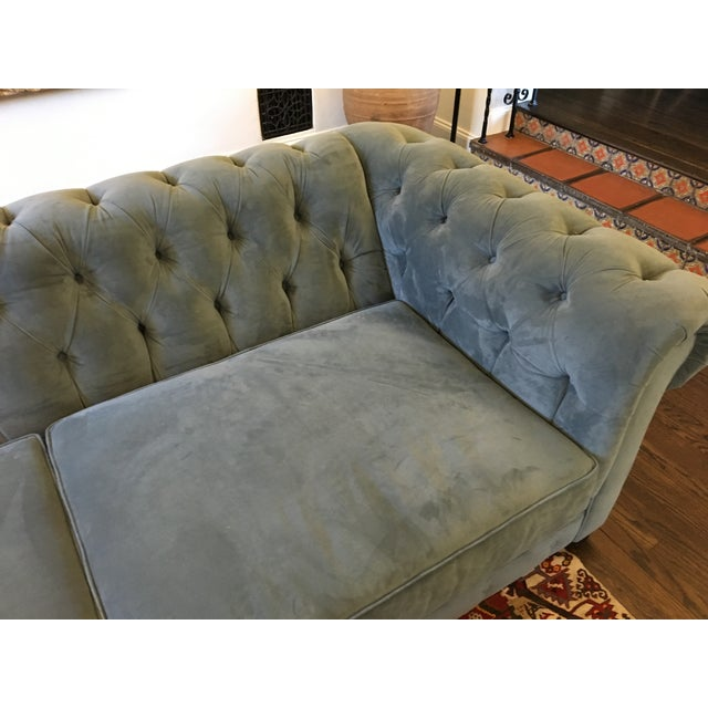 Blue Chesterfield Sofas - A Pair - Image 6 of 8