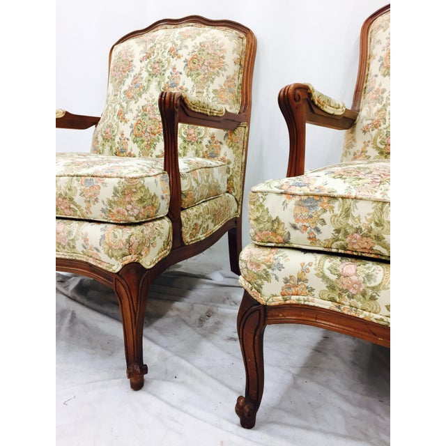 Vintage French Style Arm Chairs - A Pair - Image 4 of 11