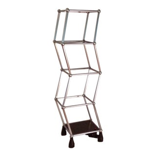 Mid-Century Modern Chrome Motorized Rotating Etagere 70s For Sale