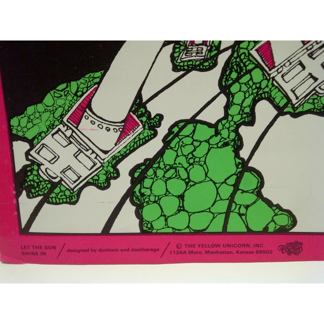 """Vintage """"Let the Sun Shine In"""" Blacklight Poster For Sale In Pittsburgh - Image 6 of 7"""