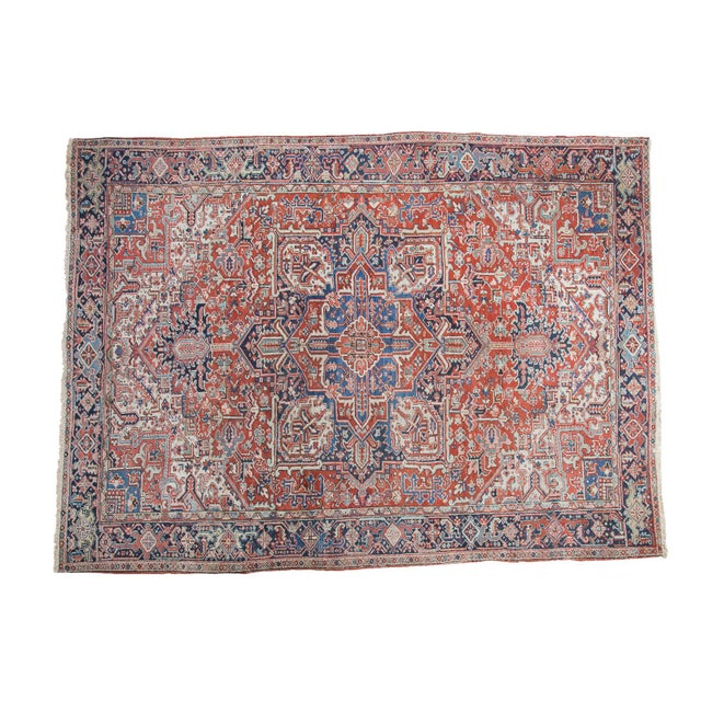 Vintage Heriz Carpet- 8′2″ × 11′ - Image 1 of 8