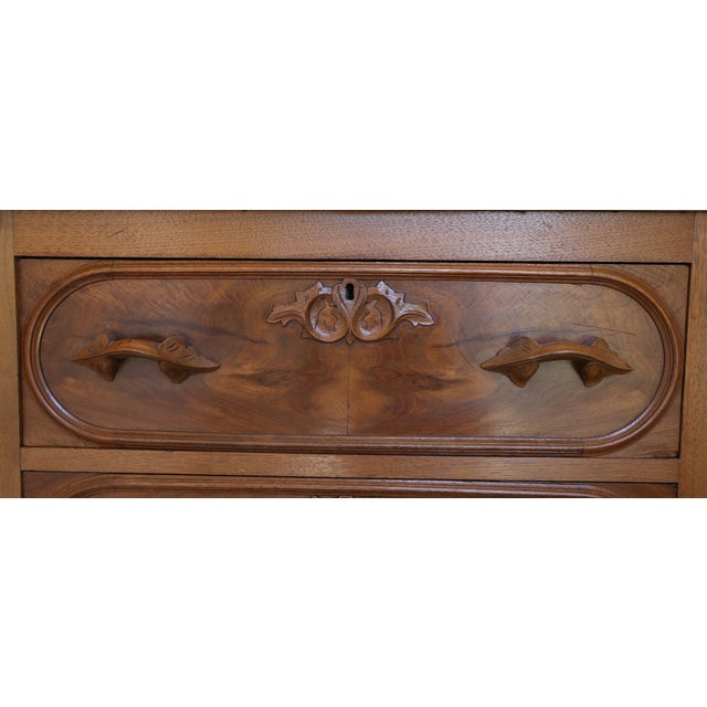 Antique Walnut Washstand with Marble Top - Image 4 of 5