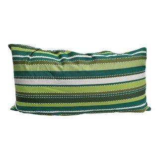 Emerald Green Stripe Pillow For Sale