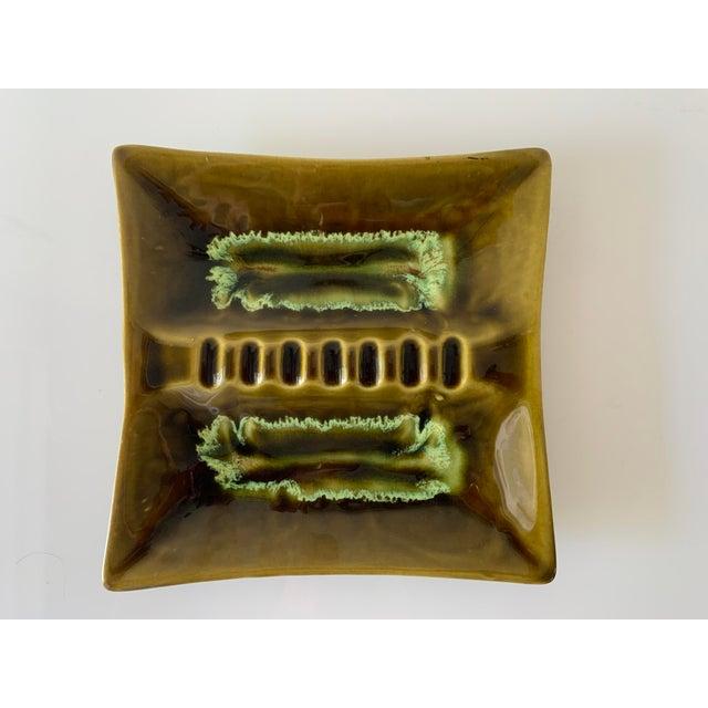 Mid Century Square Drip Glaze Ashtray For Sale In Miami - Image 6 of 6