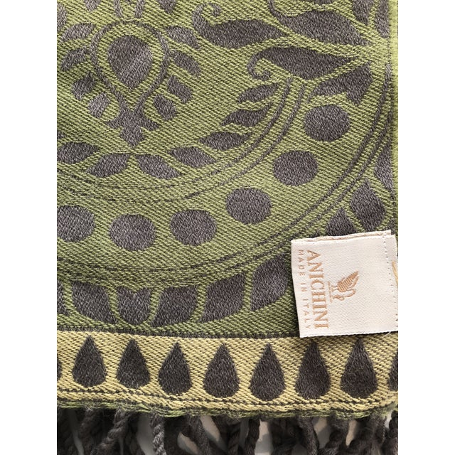 French Country Anichini Verona Italian Wool Throws - a Pair For Sale - Image 3 of 11
