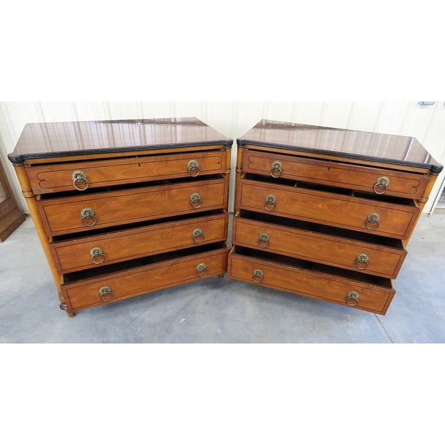 Pair of Kittinger Georgian Style Rosewood Commodes For Sale - Image 10 of 11