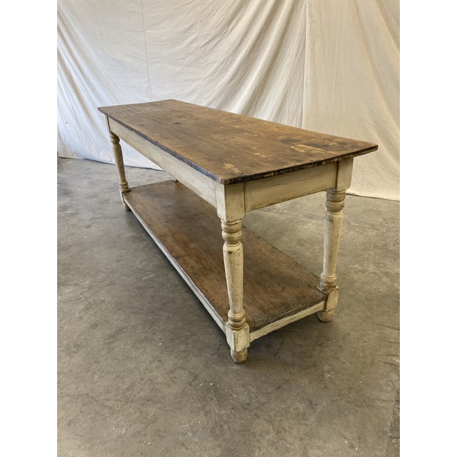 Rustic French Farm Console Table - 19th C For Sale - Image 4 of 12